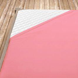 Napínací jersey prostěradlo růžové Dvoulůžko Bavlna - jersey
