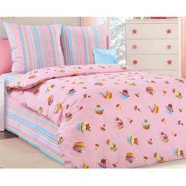 Povlečení Dortíky 140x200 jednolůžko - standard bavlna