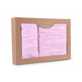 Dárková sada ručníků Moreno lila 70x140 cm, 50x90 cm, 500 g/m2 Dvoudílný set