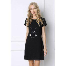 Dámská noční košilka Cat Woman  černá