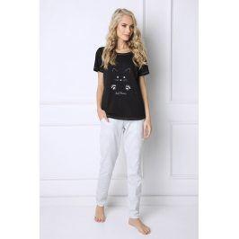 Dámské pyžamo Cat Woman  černá/šedá