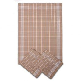 Set kuchyňských utěrek béžový 50x70 cm bavlna