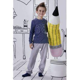 Chlapecké pyžamo Jacqard  modrošedá