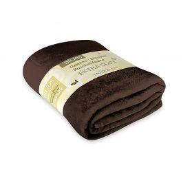 Deka Extra Soft hnědá 140x200 cm hnědá