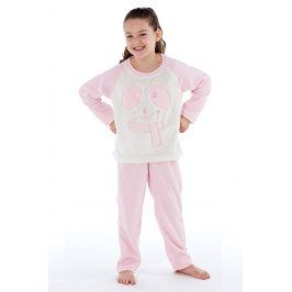 Dívčí hřejivé pyžamo Winter  růžovobílá