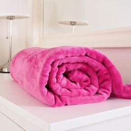 Mikroflanelová deka Exclusive růžová 150x200 cm mikroflanel