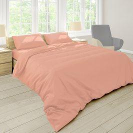 Povlečení Pastel broskvová 140x200 jednolůžko - standard bavlna
