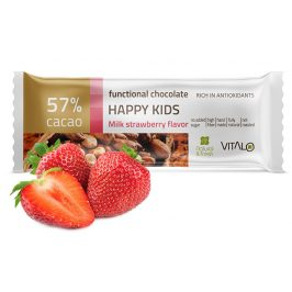 Vitalo Funkční čokoláda Happy Kids - Milk strawberry Flavor 25g