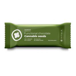 Vitalo Funkční čokoláda Cannabis seeds 25g
