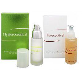 HERB PHARMA Hyaluroceutical hydratační biotechnologická emulze 30 ml + Pureceutical čistící gel proti jemným vráskám 125 ml kosmetická sada