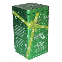 English Tea Shop Vánoční plechovka 15 hedvábných pyramidek - Vánoční noc