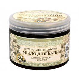 Babushka Agafia Přírodní černé mýdlo 500 ml