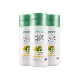 LR Lifetakt Aloe Vera Drinking Gel Traditional s medem 3 x 1000 ml
