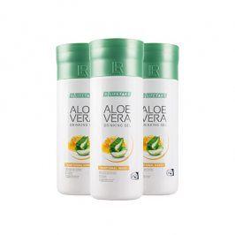 LR Lifetakt Aloe Vera Drinking Gel Traditional s medem 3 x 1000 ml