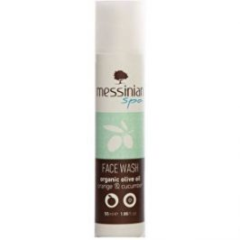 Messinian Spa Mycí gel na obličej okurka & pomeranč 55 ml