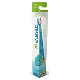 Preserve Dětský zubní kartáček soft - azurový