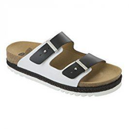 Scholl Zdravotní obuv RIO WEDGE AD - černá/bílá vel. 38