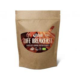 Lifefood Bio Life breakfast Granola čokoládová s mandlemi 230 g