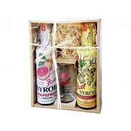 Kitl Syrob dárkové balení ( 2 x 500 ml + sklenička) grapefruit a zázvor