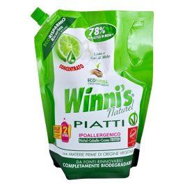 Winni´s Piatti Lime Ecoricarica koncentrovaný mycí prostředek na nádobí s vůní limetky - náhradní náplň 1000 ml