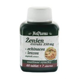 MedPharma Ženšen extrakt 350 mg + echinacea + leuzea 67 tablet