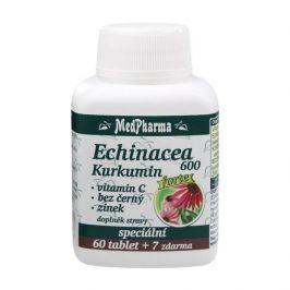 MedPharma Echinacea 600 FORTE, kurkumin, vit. C, bez černý, zinek 67 tablet