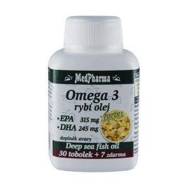 MedPharma Omega 3 Rybí olej Forte (EPA 315 mg + DHA 245 mg) 30 tob. + 7 tob. ZDARMA