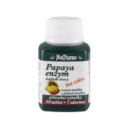 MedPharma Papaya enzym – cucavé pastilky bez cukru s příchutí broskve 30 tbl. + 7 tbl. ZDARMA