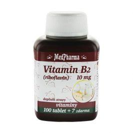 MedPharma Vitamín B2 (riboflavin) 10 mg 100 tbl. + 7 tbl. ZDARMA
