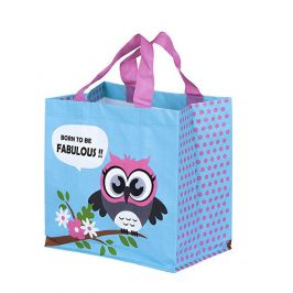 Kappus ECO taška Sova 3 barevné motivy blankyt