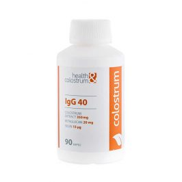 Health&colostrum Colostrum IgG 40 (350 mg) + betaglukan + selen 90 kapslí