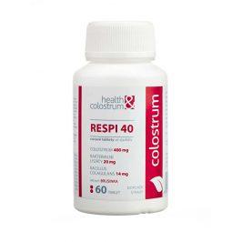 Health&colostrum RESPI 40 (400 mg) + bakteriální lyzáty - příchuť brusinka 60 cucavých tbl.
