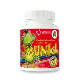Nutricius Imuníci – hlíva ústřičná svitamínem D pro děti 90 cucavých tbl.