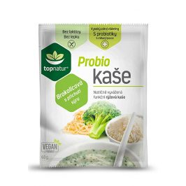 Topnatur Probio kaše brokolicová s příchutí sýru 25 x 60 g