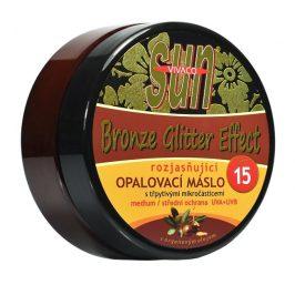 SUN Opalovací máslo Argan bronzer glitter OF 15 200 ml