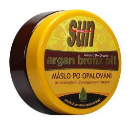 SUN Zvláčňující máslo Argan bronz oil po opalování 200 ml