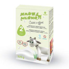 Goldim Naše mléko 2 pokr. výživa z kozího mléka 6-12 m 525 g