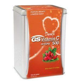 GreenSwan GS Vitamin C 1000 + šípky 120 tablet v plechové krabičce