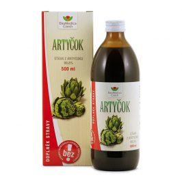 EkoMedica Czech Artyčok – 99,8 % šťáva z artyčoku 500 ml