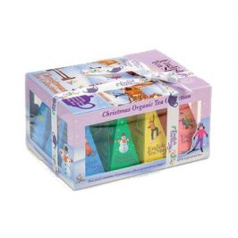 English Tea Shop Vánoční sada 12 pyramidových sáčků - Ozdoby Lyžaři a sáňkaři