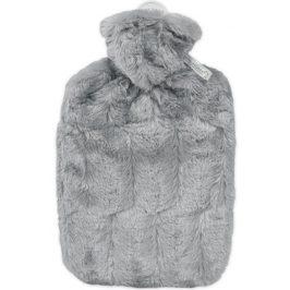 Hugo-Frosch Termofor Classic s obalem z umělé kožešiny - šedý s podšívkou