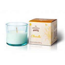 The Greatest Candle Vonná svíčka ve skle 75 g  citronela (s repelentním účinkem)