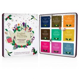 English Tea Shop Vánoční plechová kazeta bílá prémiová, 72 nál. sáčků
