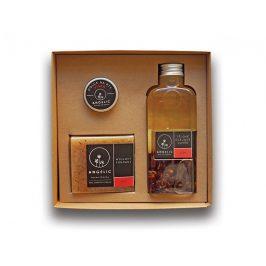Angelic Dárková krabička Angelic tělové olejové cuveé Růže