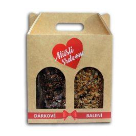 Topnatur Dárkové balení Müsli srdcem 2 x 200 g (Paleo a Belgická čokoláda & brusinky)