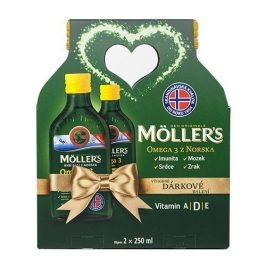 Möller´s Möller`s Omega 3 Citron 2 x 250 ml Vánoční balení