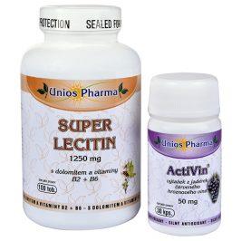 Unios Pharma Super Lecitin s dolomitem a vitamíny B2, B6 100 tob. + Activin 30 tbl. ZDARMA