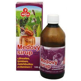 Purus Meda PM Medový sirup s jitrocelem, tymiánem, mateřídouškou a vitamínem C 100 g