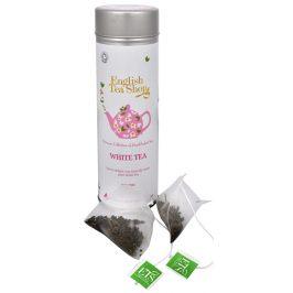 English Tea Shop Čistý bílý čaj - plechovka s 15 bioodbouratelnými pyramidkami