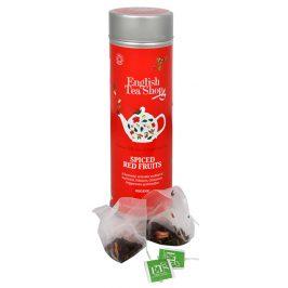 English Tea Shop Čaj kořeněné červené ovoce - plechovka s 15 bioodbouratelnými pyramidkami